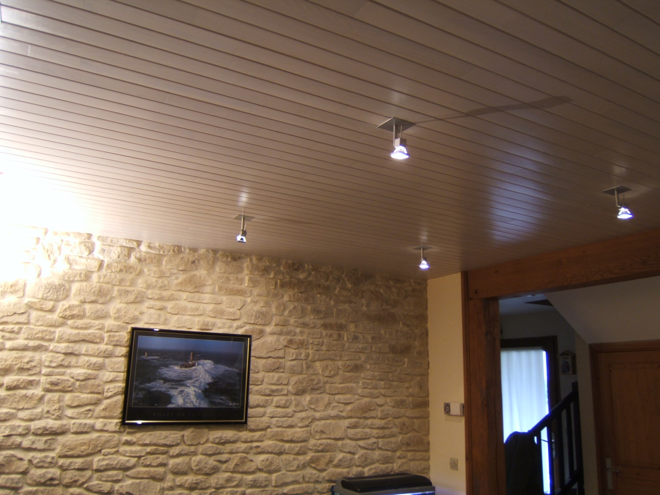 Lambris Plafond Bois Awesome Plafond En Lambris Plafond Bois En